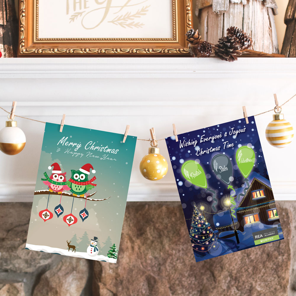 Christmas Cards To Print.Christmas Cards Punctual Print